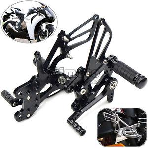 Black CNC Rearsets Rear Sets For Honda CBR600RR 2003-2006 CBR1000RR 2004-2007