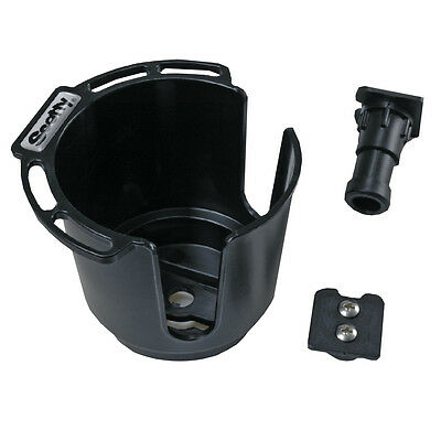 New Scotty 311 Drink Holder Wbulkheadgunnel Mount & Rod Holder Post Mount - Bl