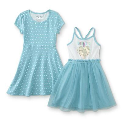P.S from Aeropostale Girls Mermaid 2pc Dress Size 2T 3T 4T 4 5 6 6X 7 8 10 12 14 - Dresses 10-12