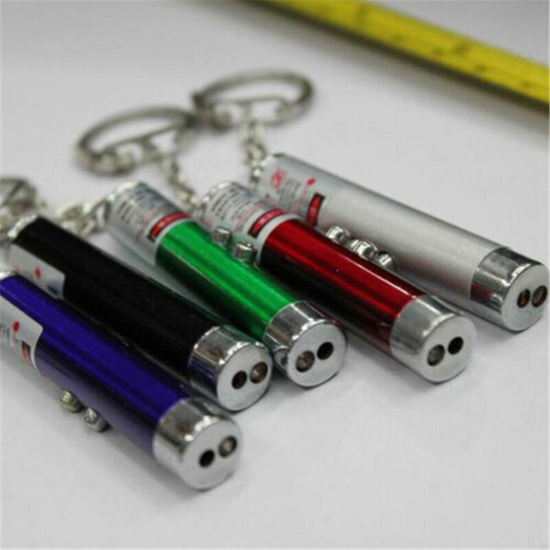 Fashion 2In1 Red Laser Pointer Pen With White LED Light Chil