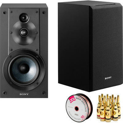 Sony 3-Way 3-Driver Bass Reflex Stereo Bookshelf Speakers +