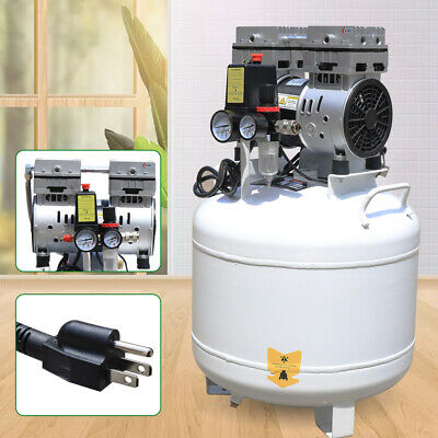 40l Air Compressor Dental Medical Equipment Clinic Noiseless Oil Free Oilless Us
