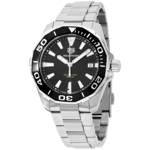 Tag Heuer Aquaracer Black Dial Stainless Steel Men's Watch WAY111A.BA0928 - watch picture 1