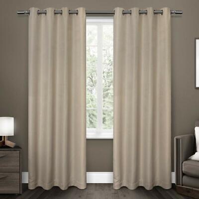 Exclusive Home Tende a Pannello Melrose Tessuto Oscurante set di 2 color Lino