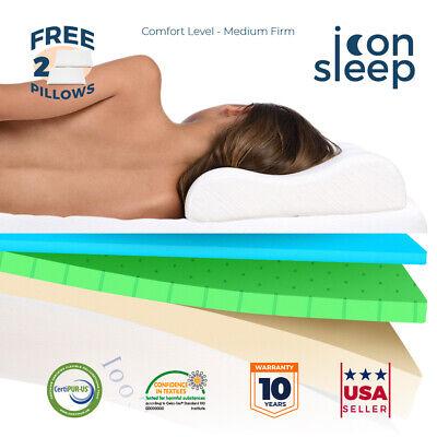 """14"""" Cool & Gel Memory Foam Mattress KING Size Bed Medium Fir"""
