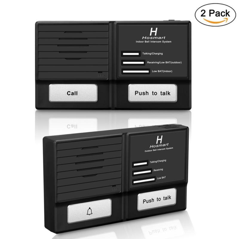 Hosmart 1500FT Wireless Doorbell and Intercom system-Weather/Water proof(Outdoor