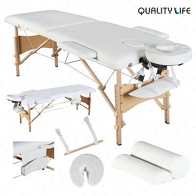 """84""""L Massage Table Foldable Facial SPA Bed with 2 Pillows+Cradle+Sheet&Hanger"""