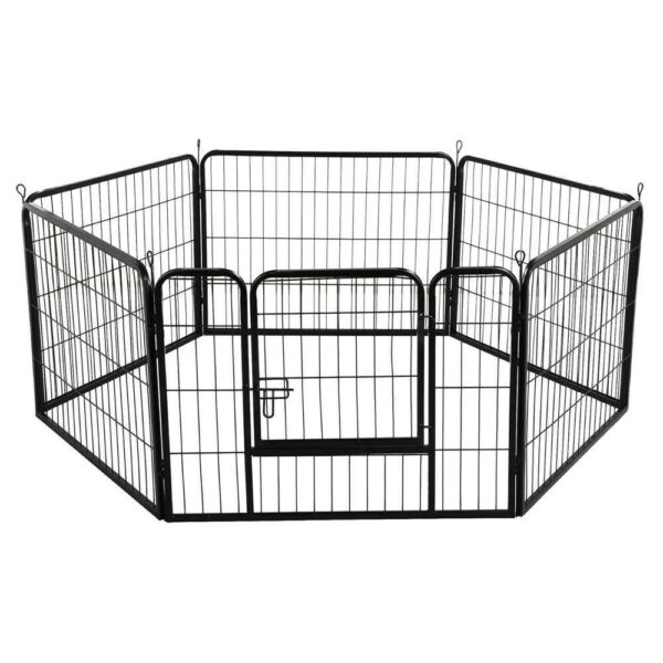 Yaheetech 6 Panel Dog Pen Puppy Playpen Cat Rabbit Foldable Playpen Indoor/Outdoor 60cm High for sale  Cardiff Bay, Wales