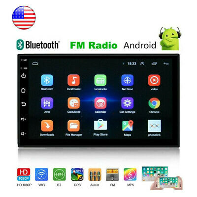 "Universal Android 8.1 Car Audio Stereo Radio 2 DIN 7"" GPS Navi Wifi MP5 Player"