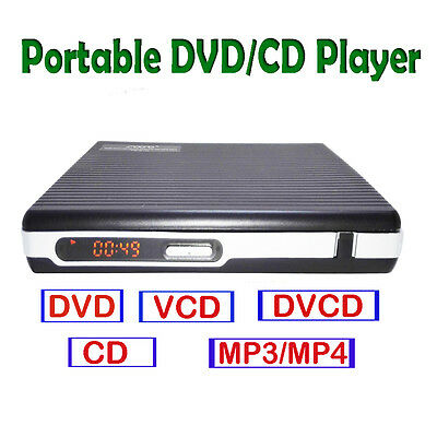 portable DVD VCD CD MP4 player without screen USB earphone port remote control