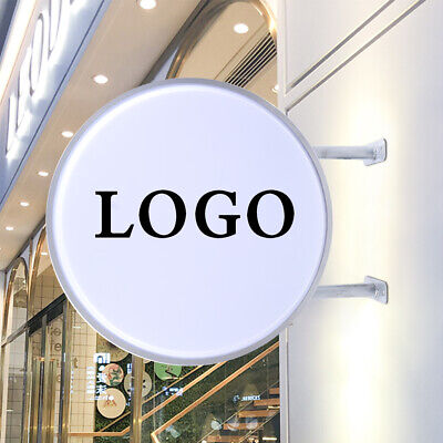 Led 20 Light Box Sign Round Double Sided Outdoor Advertising Projecting Light