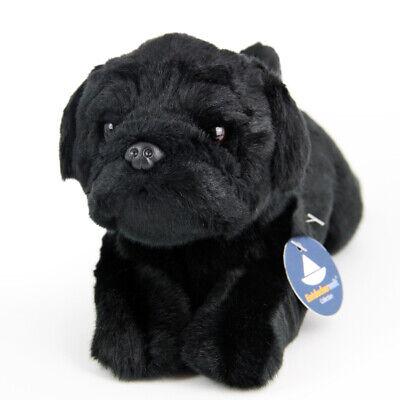 Stofftier schwarzer Mops, Hund, Plüschtier (L. ca. 30 cm)  ()