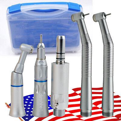 Usa Ship1set Nsk Style Dental 2 Hole Push Button High Low Speed Handpiece Kit