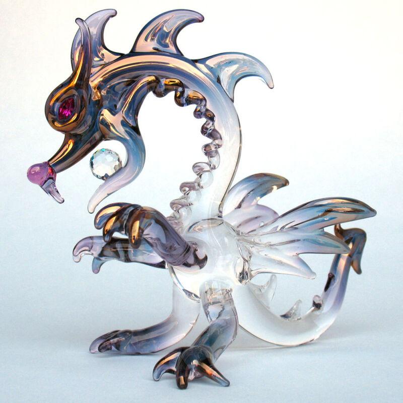 Dragon Classic Figurine Hand Blown Glass Crystal Ball