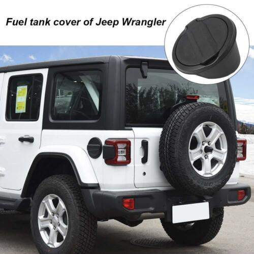 Gas Cap Cover Non-Locking Fuel Tank Door for 2018-2019 Jeep Wrangler JL 2//4-Door
