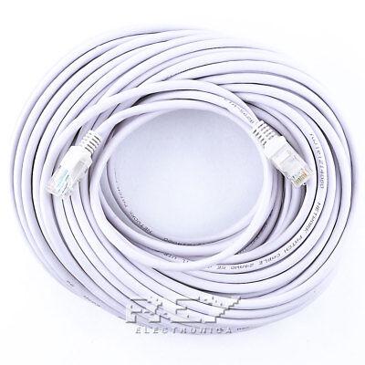 Cable LAN RJ45 20 metros Cat5e Ethernet Red Cabezal Internet Entrega 48/72h...