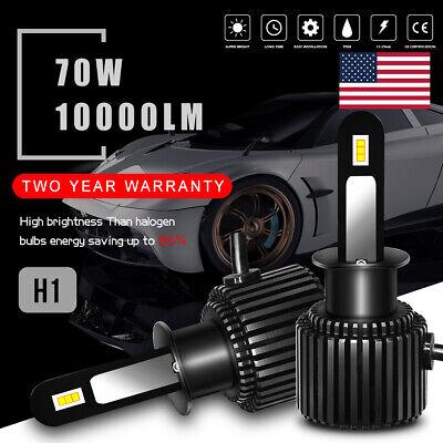 H1 LED Headlight Bulb 6000K Conversion Kit High Low Beam 70W 10000LM White CSP