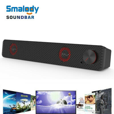 Smalody Soundbar Computer Speaker 3.5mm Wired Sound Bar USB