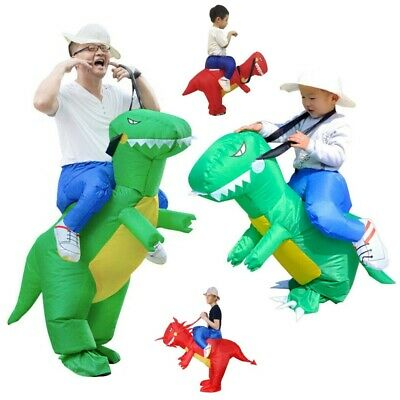 Ride On Dinosaur Costume Inflatable Blow Up Suit T-Rex Fancy Dress Party Gift