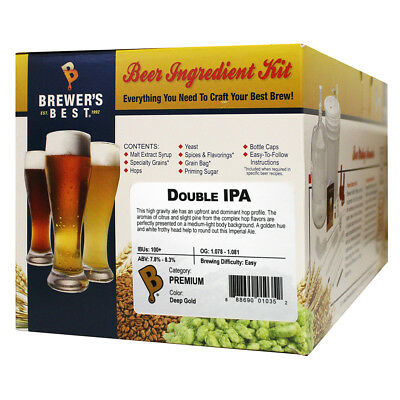 Brewer's Best Double IPA Beer Ingredient Kit fro Home Brew Beer