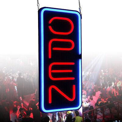 Big Vertical Neon Open Sign Light Opening Restaurant Bar Light 23.6x11.8 New