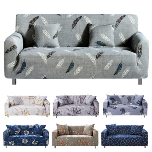 1/2/3/4 Seater Stretch Sofa Covers Chair Couch Cover Elastic