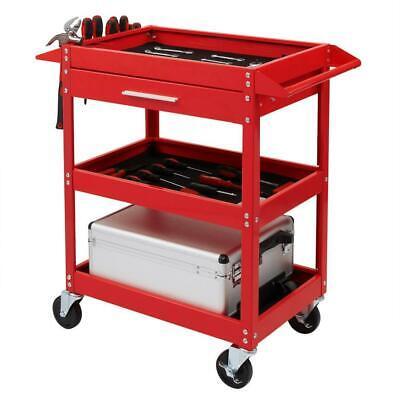 Three Tray Rolling Tool Cart Mechanic Cabinet Storage Box Or