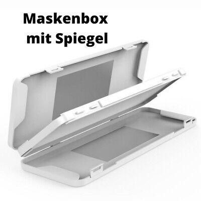 Tragbare Maskenbox Aufbewahrungsbox für Mundschutz in Weiß