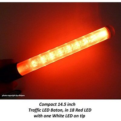 Handheld Flashlights 14.5 Inch Red Led Traffic Safety Wand Flashlight. Featured