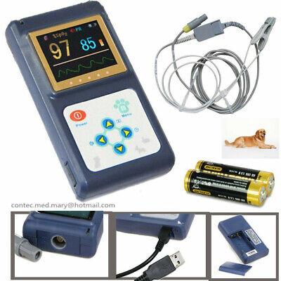 Us Seller Spo2 Veterinary Pulse Oximeter Handheld Pr Monitor Vet Tongue Probesw