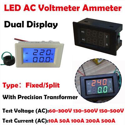 Digital Ac 500v 500a Dual Led Display Voltmeter Ammeter Voltage Power