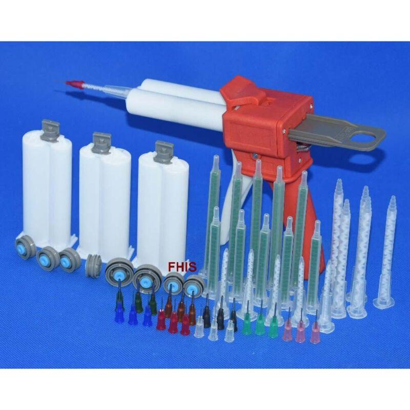 Epoxy Resin AB Glue Caulking Gun Cartridge 50ml 1:1 Adhesive Extrusion Tool