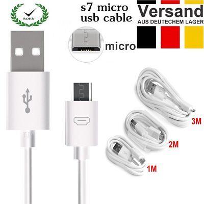 1M/2M/3M Micro USB Ladekabel Daten Datenkabel Kabel für Samsung LG Huawei