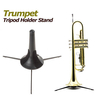Portable Trumpet Tripod Holder Stand with Detachable Foldable Metal Legs