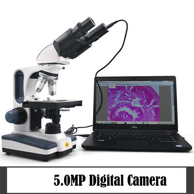 Swift 40-2500x Lab Binocular Compound Microscope With 5mp Usb2.0 Digital Camera