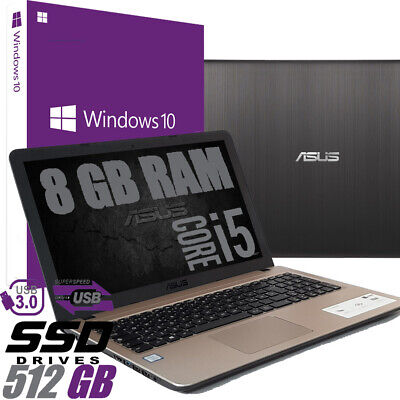 "Notebook ASUS VivoBook X540UA-GQ901 15.6"" Intel i5-8250U 8GB 512SSD WIN 10 PRO"