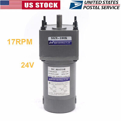 180k Electric Motor Reducer Speed Gear Motor Variable Motion Controls 17rpm New
