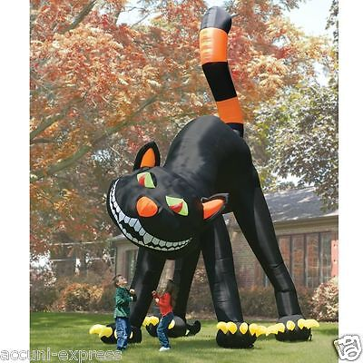 20 Ft Inflatable Halloween Cat ( 20ft Lovely Animated Giant Inflatable Black Cat for Halloween Decoration)