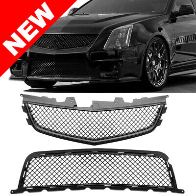 2008-2014 CADILLAC CTS-V FRONT UPPER/LOWER MAIN GRILLE COMBO - MATTE BLACK