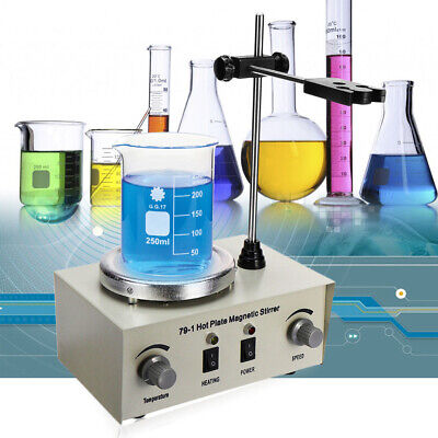 1000ml Laboratory Magnetic Stirrer W Heating Plate Heating Mixer 0-2400rmin Us