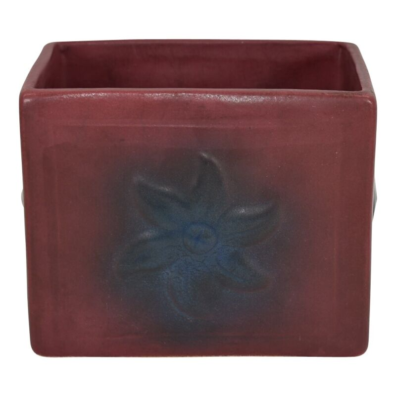 Van Briggle Pottery 1930s Mulberry Floral Planter