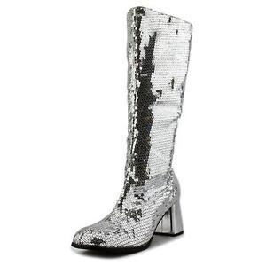 d4c4774b6b58 Bordello Womens Sequins Knee High BOOTS Block Heel Spectacul-300sq ...