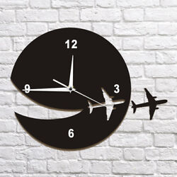 Plane Wall Clock Wall Art Home Decor Decorative Wall Clock Abstract Art Watch