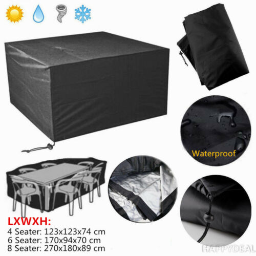 Garden Furniture - IN/Outdoor Furniture Cover UV Waterproof Garden Patio Table Shelter 4/6/8 Seater