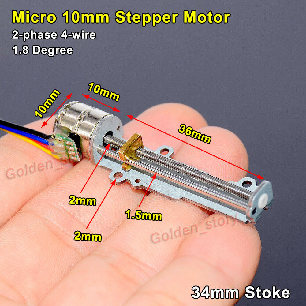Micro Metal 4mm 5V 2-Phase 4-Wire Planetary Gear Stepper Motor Screw Slider CL