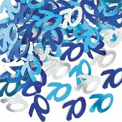 14g 70th Blue & Silver Birthday 70 Table Confetti Party Celebration Decorations](70th Birthday Table Decorations)