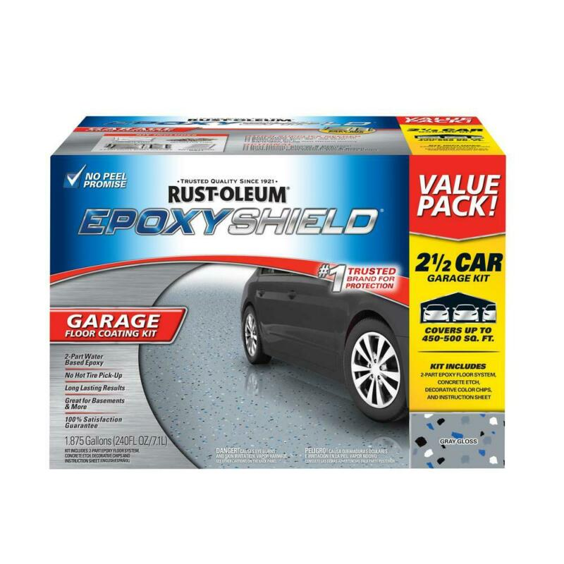 Rust Oleum EpoxyShield High Gloss 2 Part Epoxy Car Garage Fl