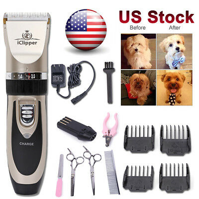 Dog Grooming Trimmer Mute Nail Kit Clipper Rechargeable Pet Pofessional Shaver