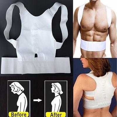 Power Magnetic Back Shoulder Posture Corrector Support Vest Unisex Adjustable