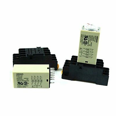 H3y-4 Power On Time Delay Relay 1 Sec - 60 Min 14 Pin With Socket Base
